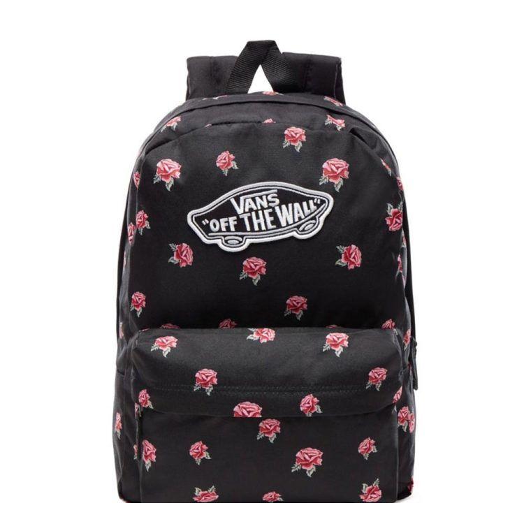 Vans Realm Backpack black rose   Rugzak tara Tassen