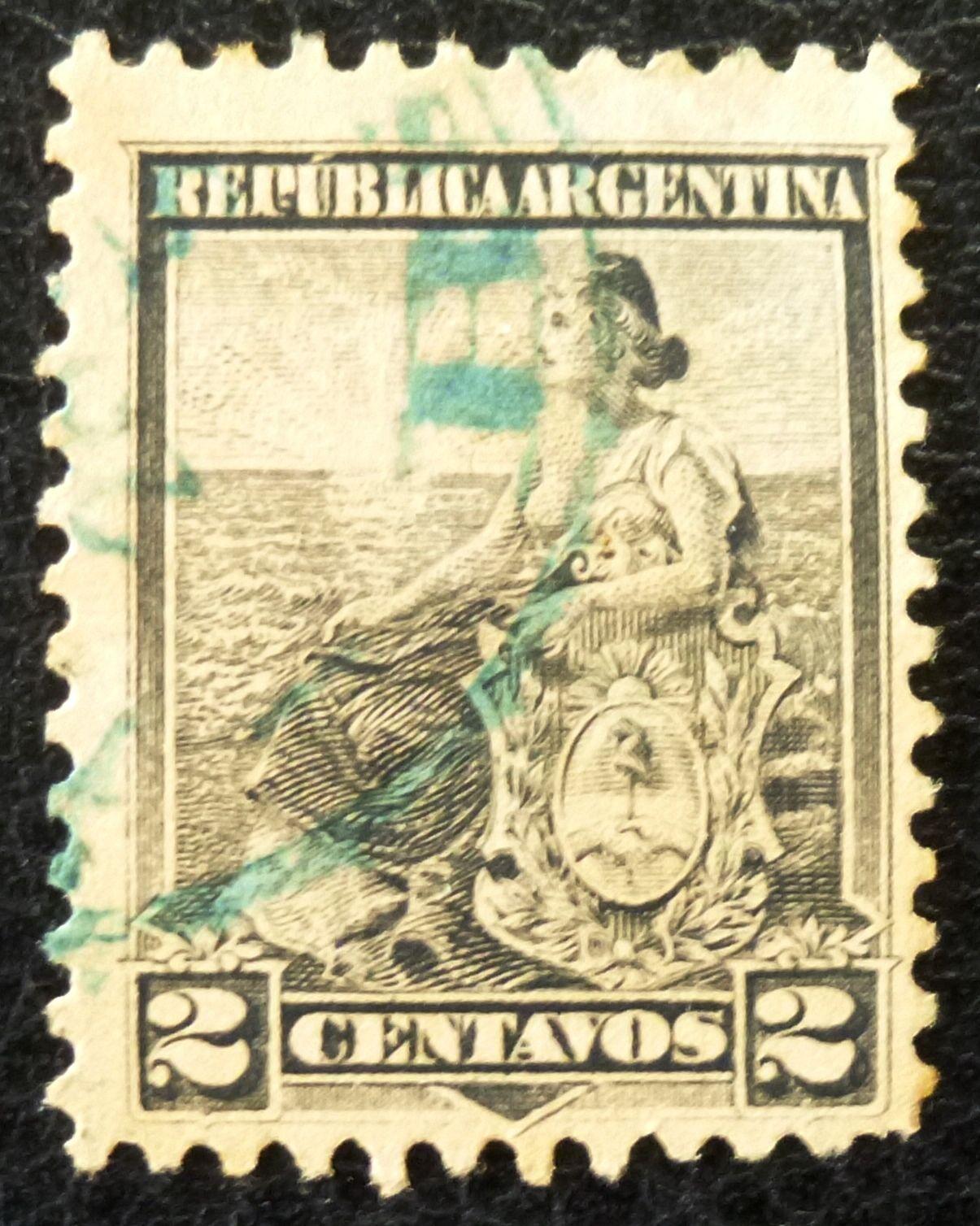 Hot Sale Old Argentine Republic Stamp Argentina