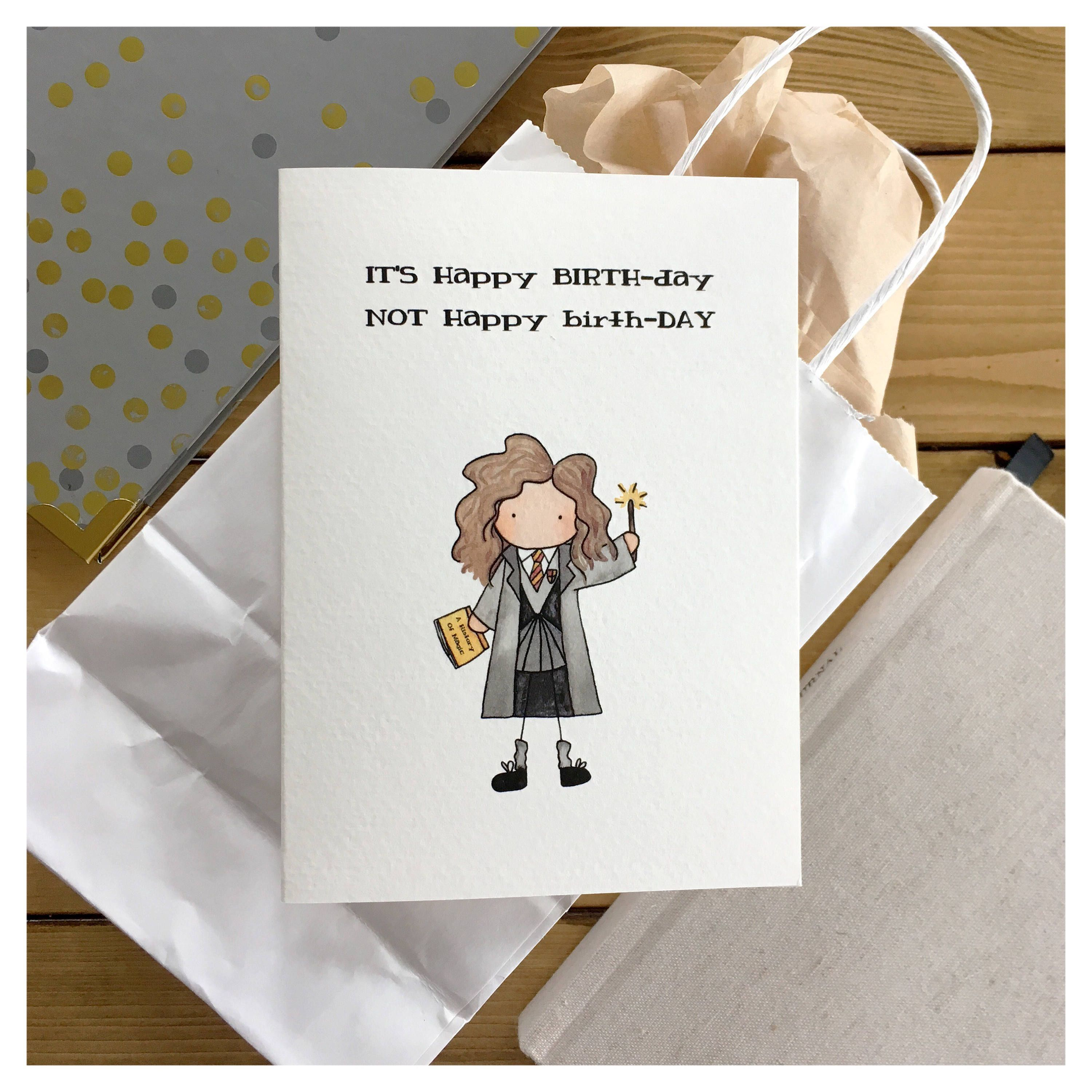 Hermione Birthday Card // Hermione, Harry Potter Birthday Card, Harry Potter Card, Harry Potter