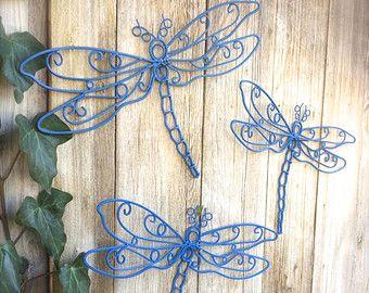 Dragonfly Decor, Garden Decor, Garden Wall Art, Dragonfly Garden Art, Dragonflies, Outdoor Decor, Garden Gifts, Outdoor Garden