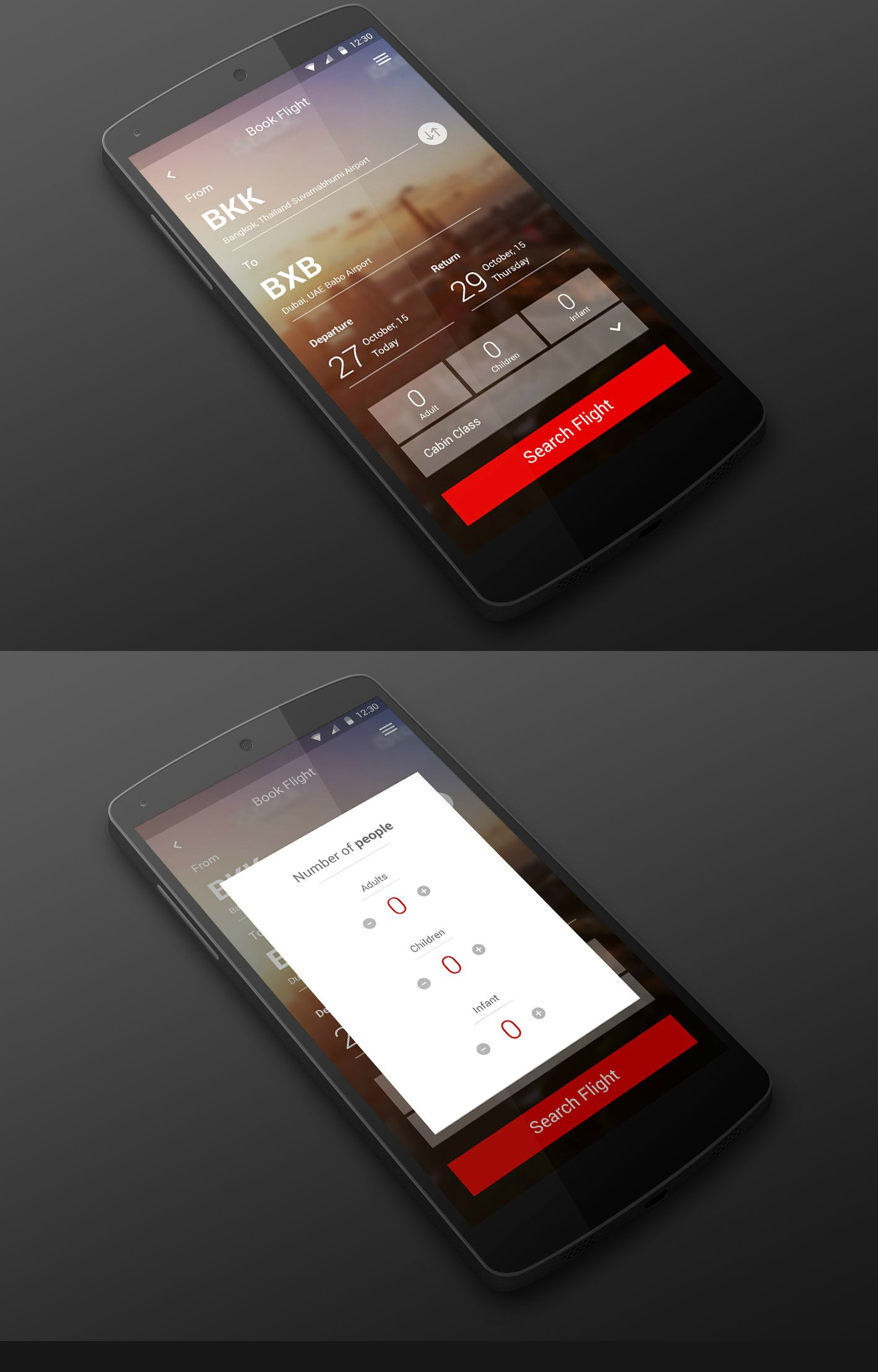 Flight booking app design created by Esolz | Mobile Apps | Pinterest ...