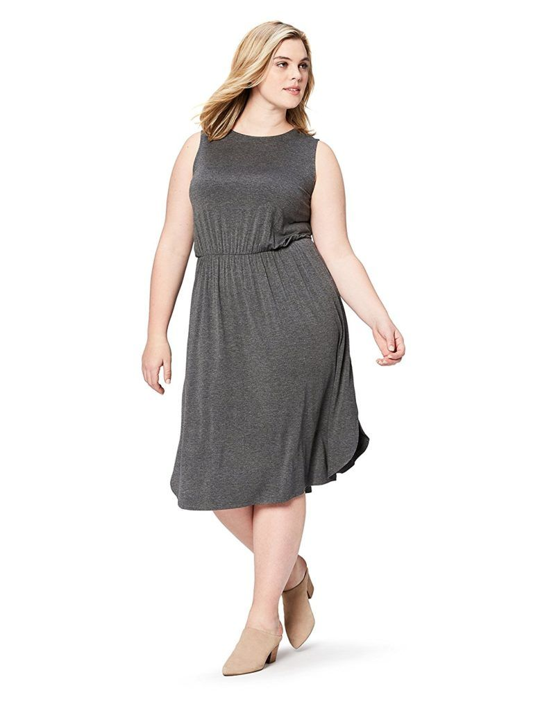 3247d085bf Daily Ritual Women s Plus Size Jersey Sleeveless Gathered Dress ...
