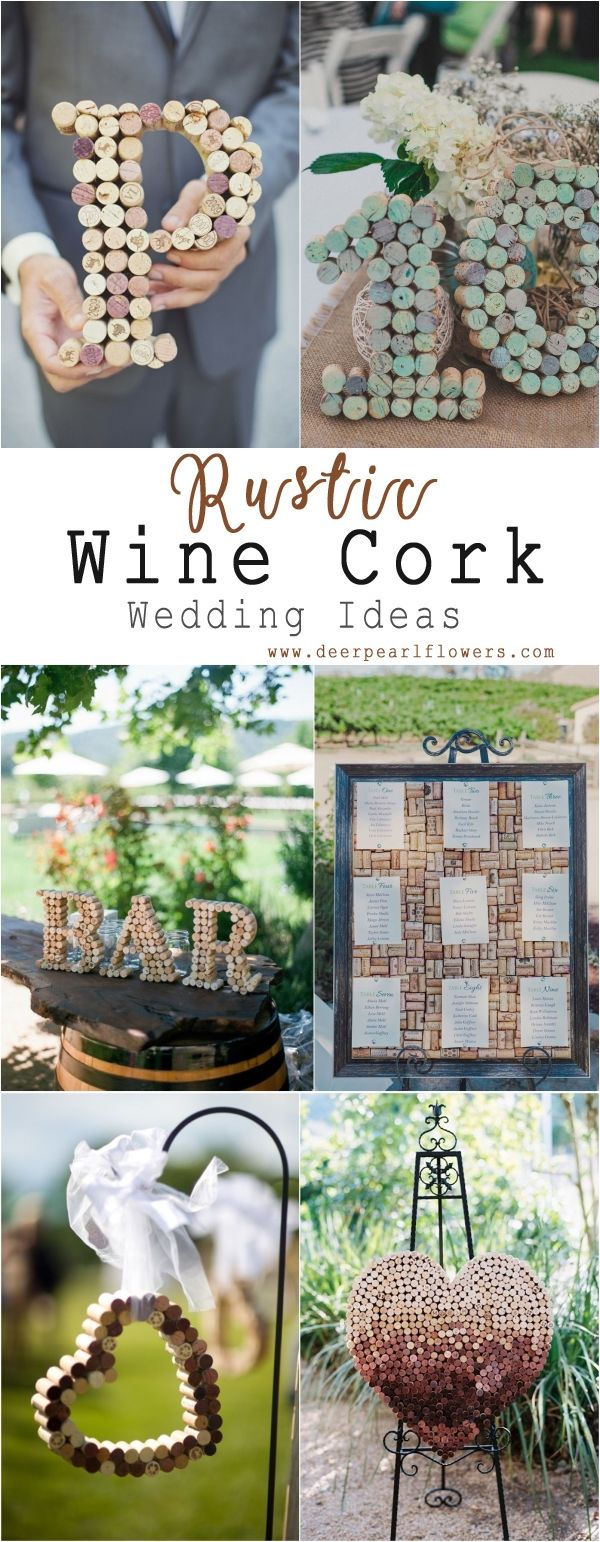 Diy rustic wedding decor ideas   Wine Corks Country Wedding Ideas with Tutorials  Country