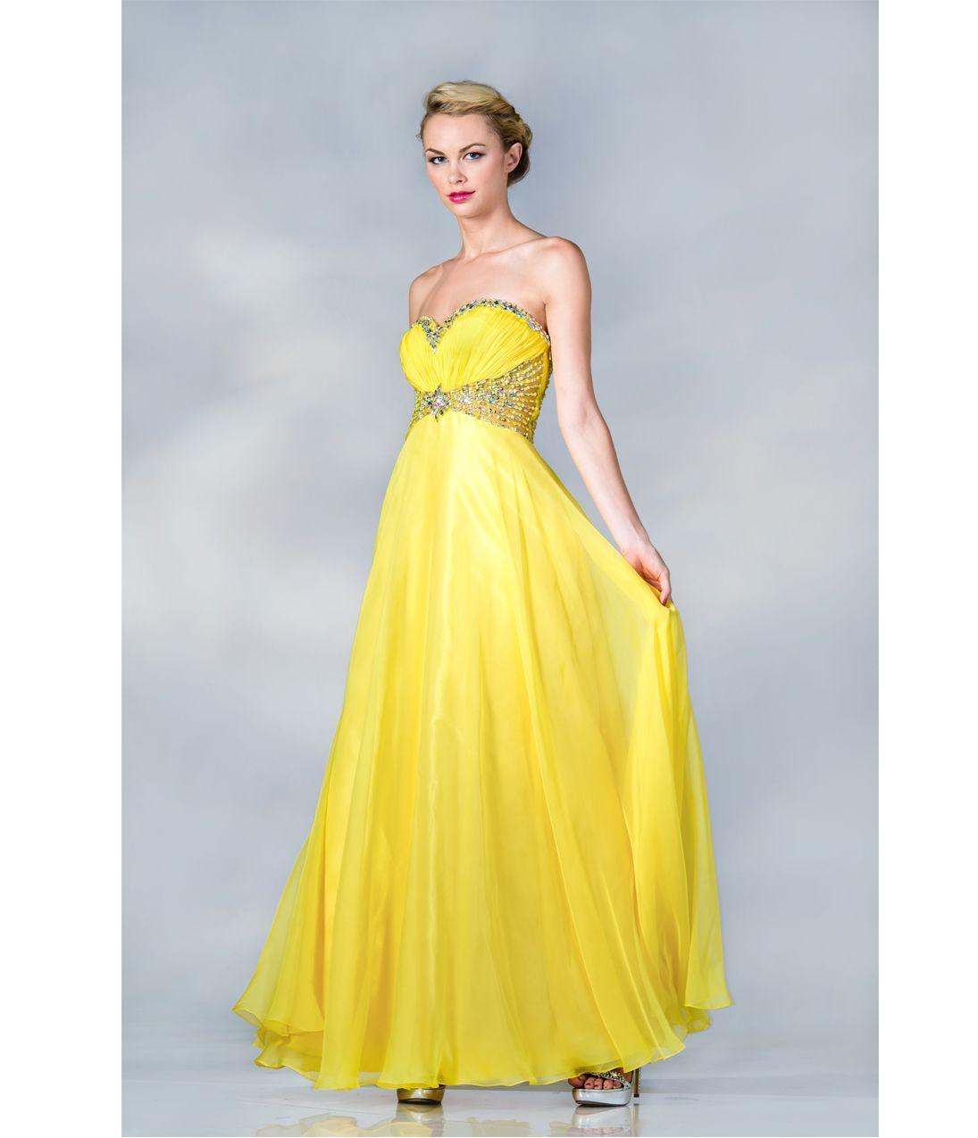 yellow evening dress | 2013 Prom Dresses - Yellow Chiffon ...
