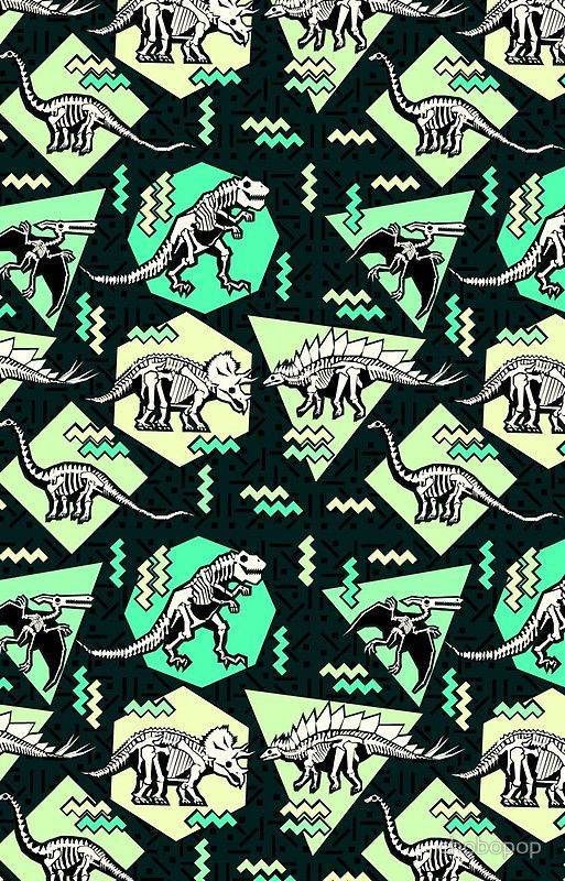 Neon Skeleton Dinosaur Pattern | iPhone Cases & Covers in
