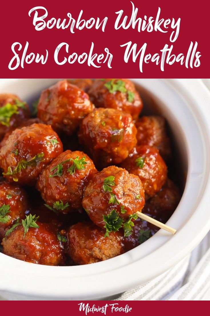 Slow Cooker Bourbon Whiskey Bbq Meatballs Recipe Meatball Appetizer Crockpot Bbq Meatballs Appetizer Meatballs