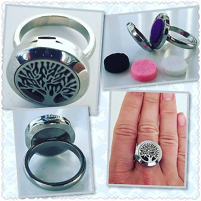 STAINLESS FAMILY TREE OF LIFE ESSENTIAL OIL DIFFUSER RING YOUNG LIVING DOTERRA