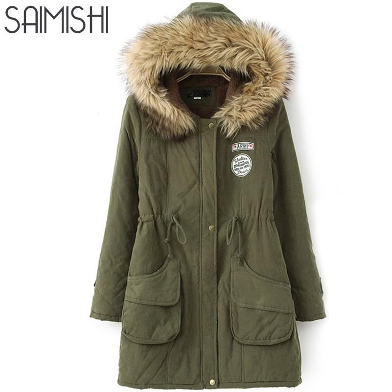 Womens Women Parkas Faux Warm Hooded Winter Long Fur Fashion Coat axz16wq