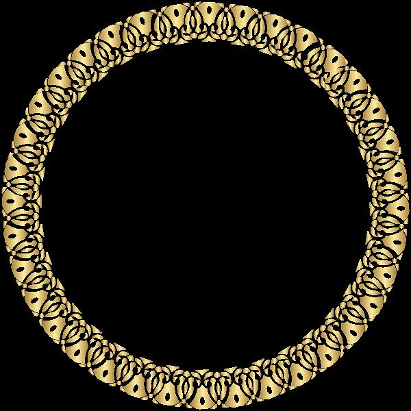 Round Frame Gold Transparent PNG Clip Art