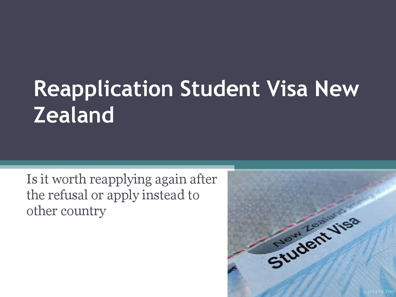 Reapplication Student Visa New Zealand Student Travel Abroad New Zealand