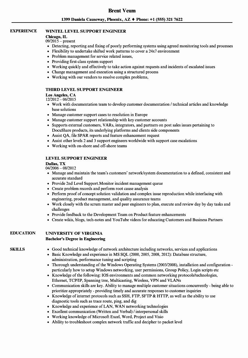 It Desktop Support Resume Awesome Resume format for