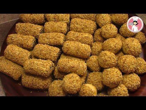 أصابع التمر بالسمسم الهشة و اللذيذة حلويات العيد مع رباح محمد الحلقة 288 Youtube Dog Food Recipes Middle Eastern Desserts Maamoul Recipe