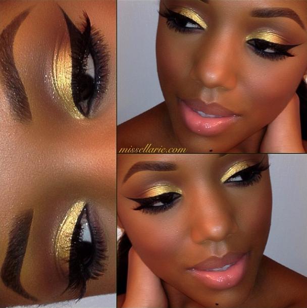 Simple Eyeshadow Tutorial For Dark Skin