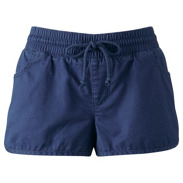 Piping Hot Woven Cotton Dolphin Shorts - Navy Blue