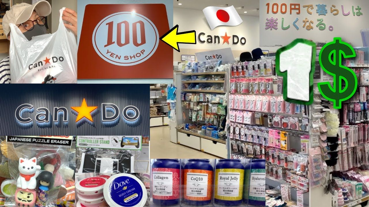 100 YEN STORE CanDo/キャンドゥ IN JAPAN (all for 1 dollar) SHOPPING TOUR AND ...
