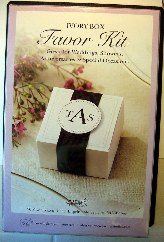 wedding favor boxes gartner studios set of 50 ivory with black ribbons gartnerstudios