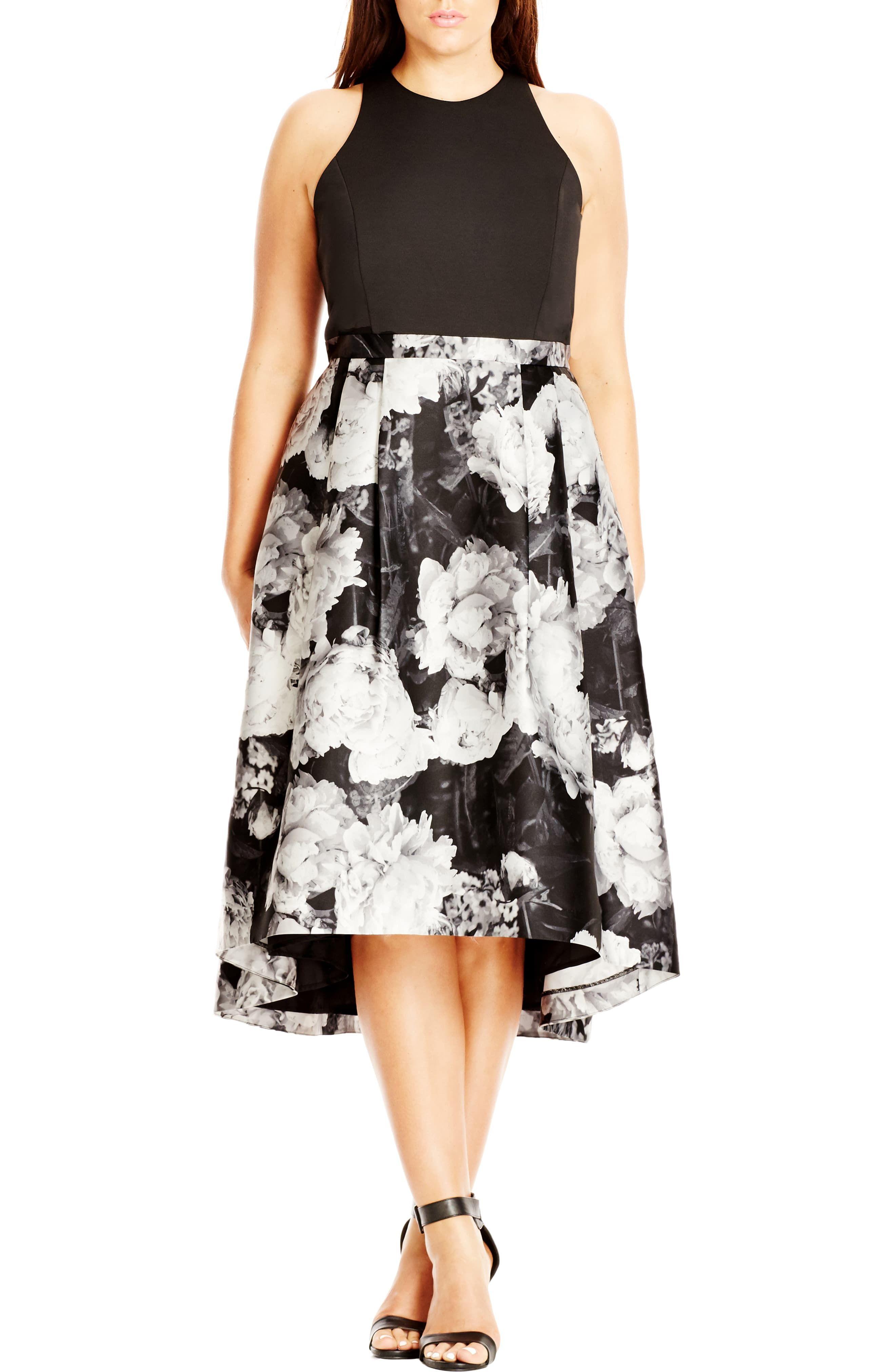 Plus size dress in black