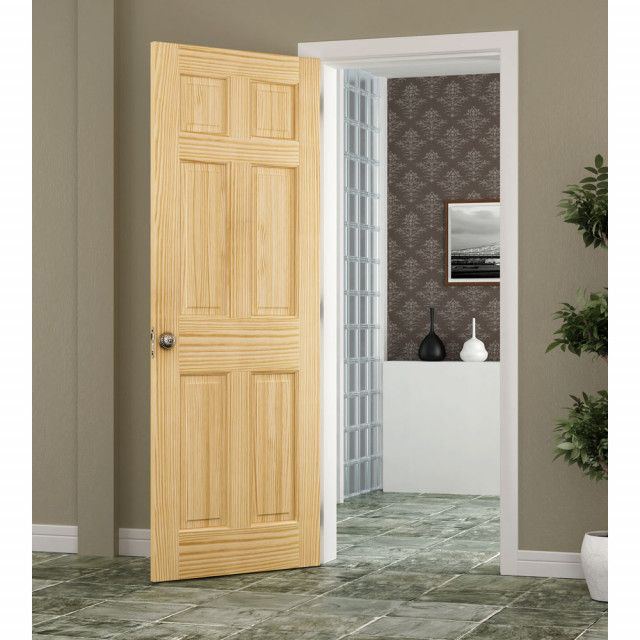 6 Panel Pine Interior Door | International Door Company
