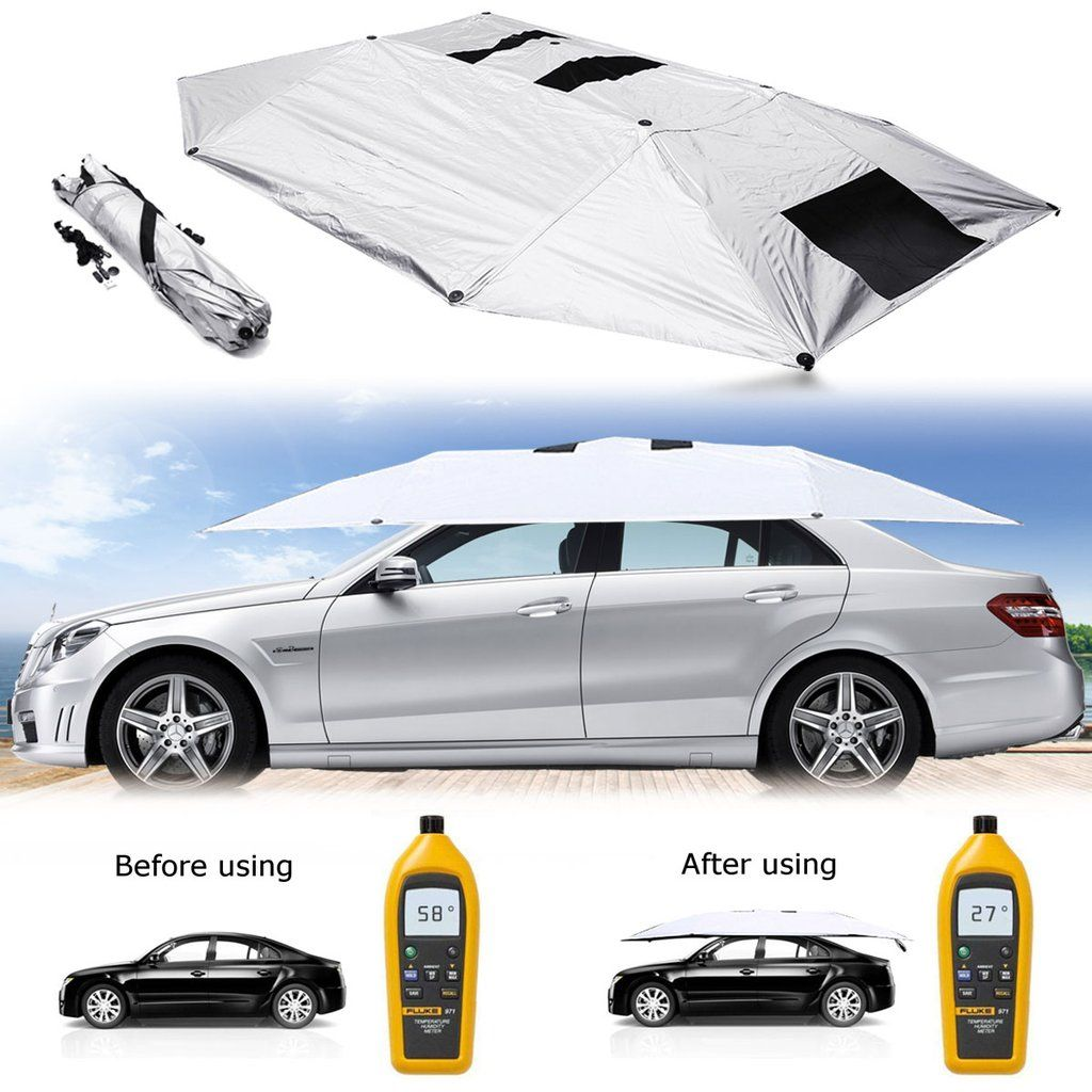 Portable Car Tent Umbrella Roof Sun Protection Car Tent Car Protection Car Shade