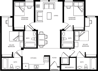 Floor Plans 8 1 2 Canal Street Student Apartments In Richmond Va Student Apartment Apartment Floor Plans Floor Plans