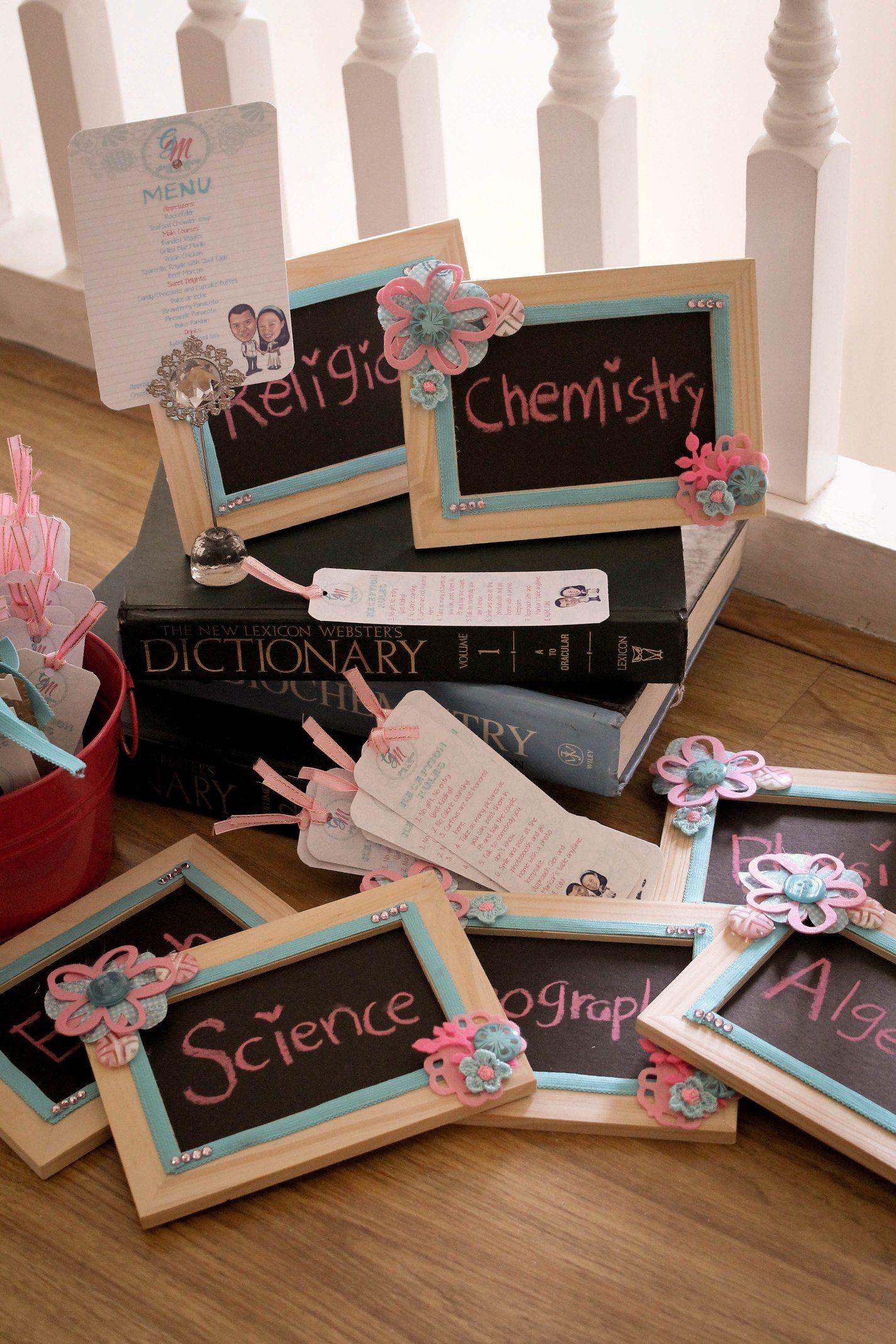 School Theme Chalkboard Table Names Cheap Wedding Ideas On A Budget