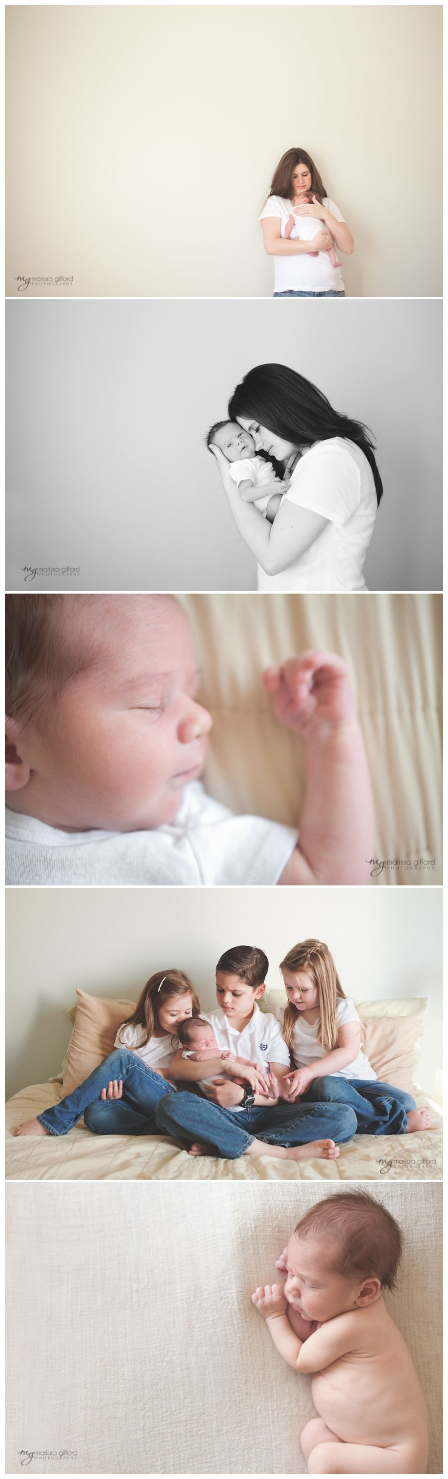 Natural light newborn photography - lifestyle & posed
