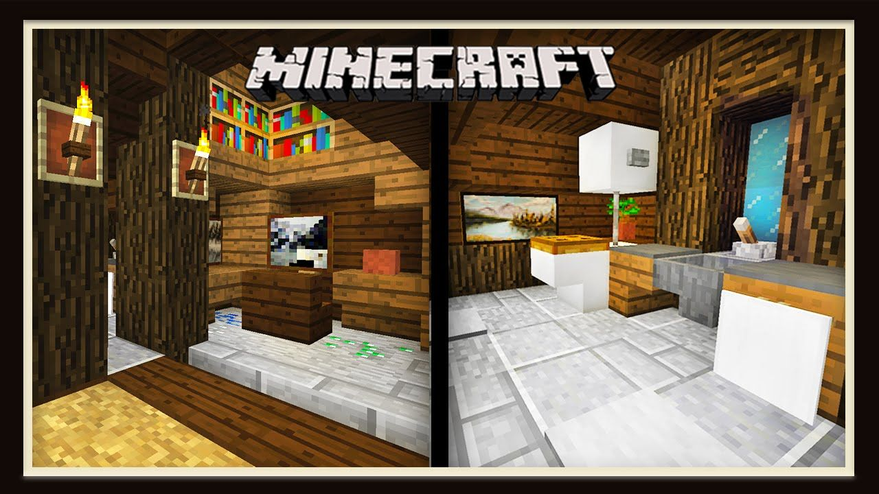 Minecraft  Finishing The House With Three Interior Designs  Scarland House Build
