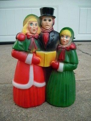 vintage general foam plastics christmas 18 trio blow mold carolers yard decor ebay