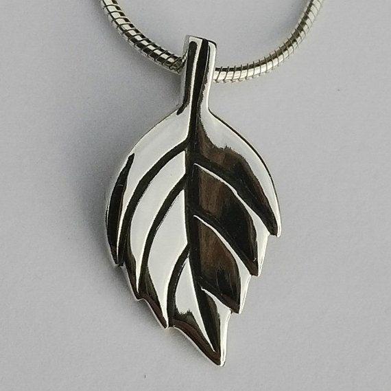 Sterling silver handmade oak leaf pendant on silver snake chain 925 sterling silver handmade oak leaf pendant on silver snake chain aloadofball Choice Image