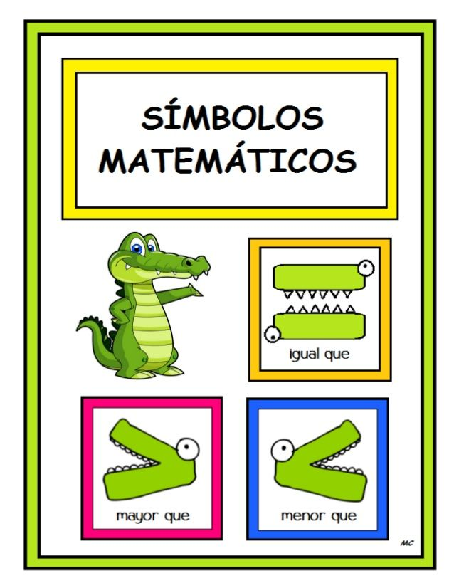 Símbolos Matemáticos Mayor Que Menor Que Mc Bilingual Math Teacher Signs Math For Kids