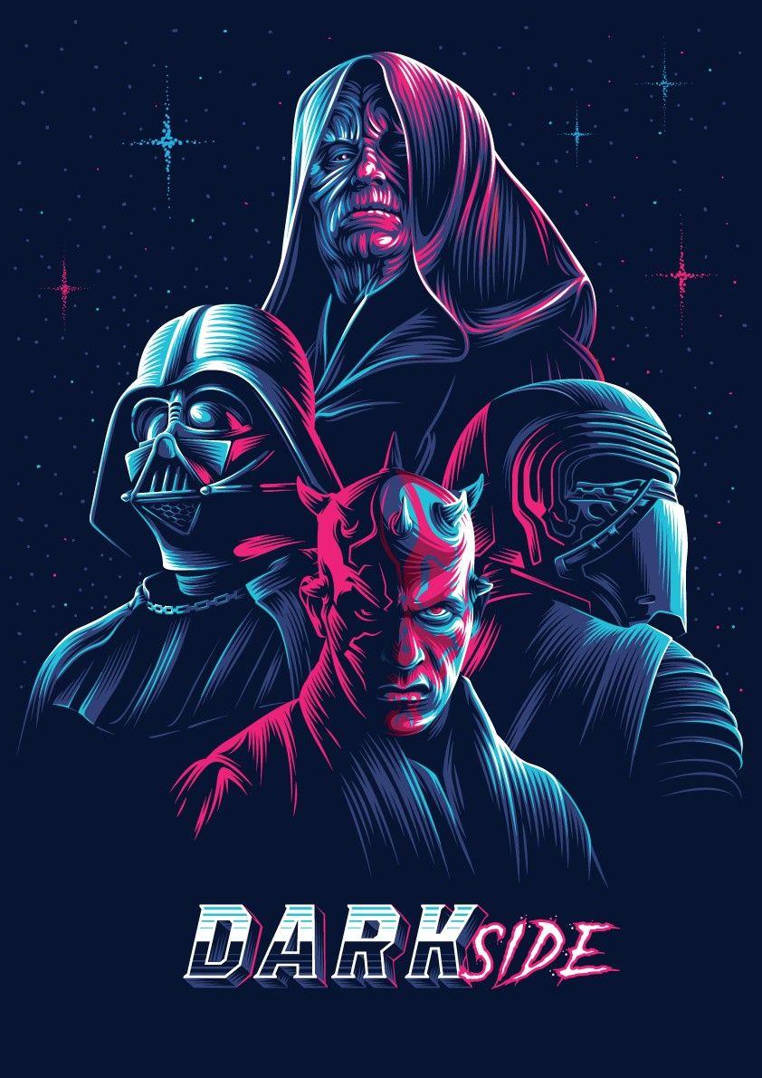 The Dark Side Star Wars In 2020 Dark Side Star Wars Star Wars Artwork Star Wars Wallpaper