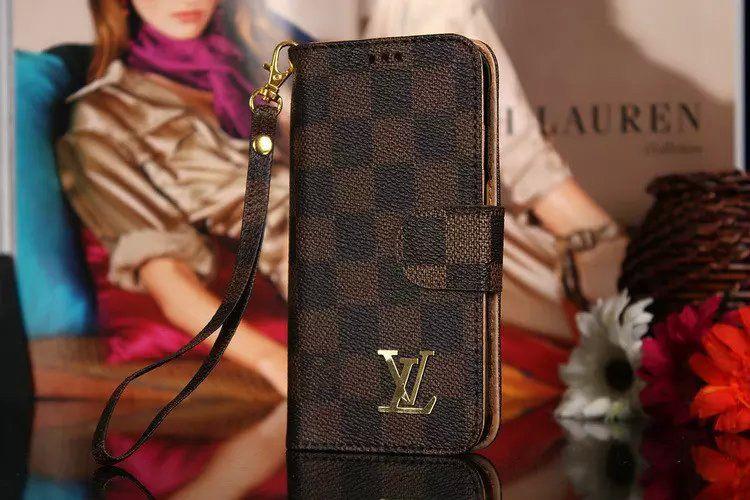 Leather luxury louis vuitton galaxy s7 case wallet coffee