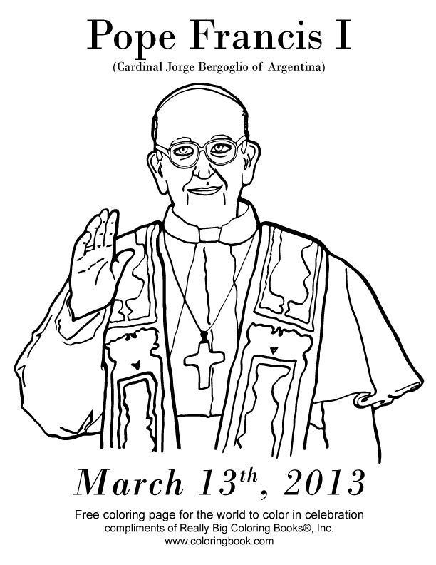 Coloring Books Free Online Coloring Pages Pope Francis I Pope Francis Francis I Cool Coloring Pages