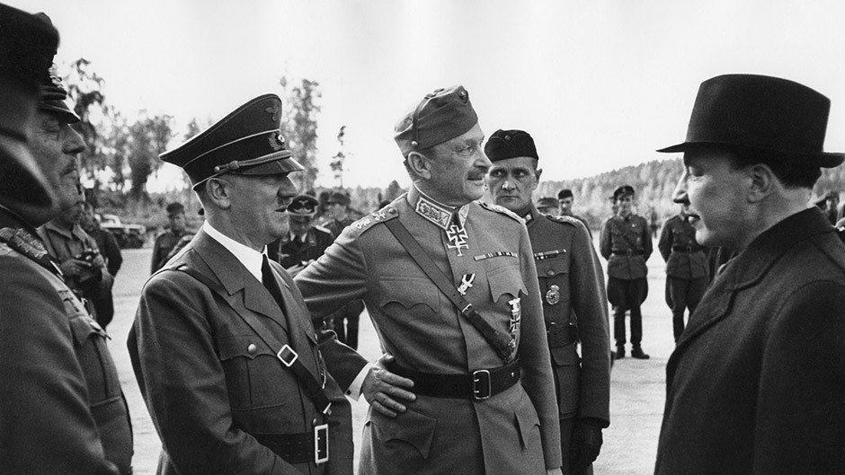 Kun Mannerheim vietti 75-vuotispäiväänsä 4.6.1942, hän sai yllätysvieraakseen Adolf Hitlerin. Yleisradion ääniteknikko Thor Damen heitti juhlavaunun hattuhyllylle mikrofonin, jolla miesten keskustelu tallennettiin salaa.