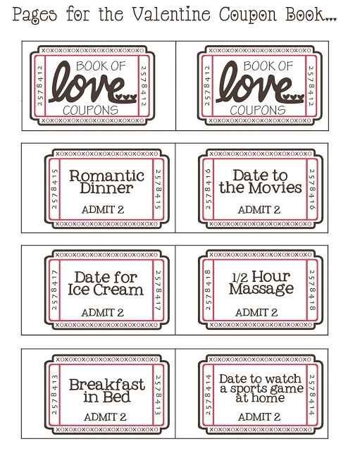 Free love coupons template download below