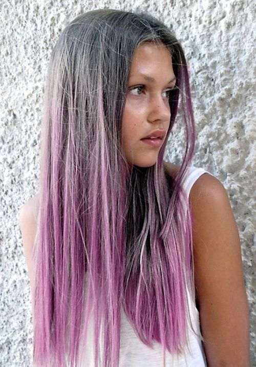 Grey To Lilac Ombré -- This would be perfect for my gray roots. Why am I so obsessed with lilac and gray hair right now!