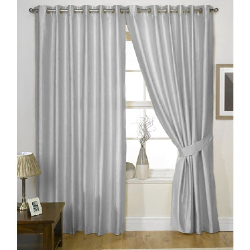 Charisma Eyelet Curtains Silver 66x72 19651 Online From Ideal Textiles At 21 95 Silver Curtains Curtains Room