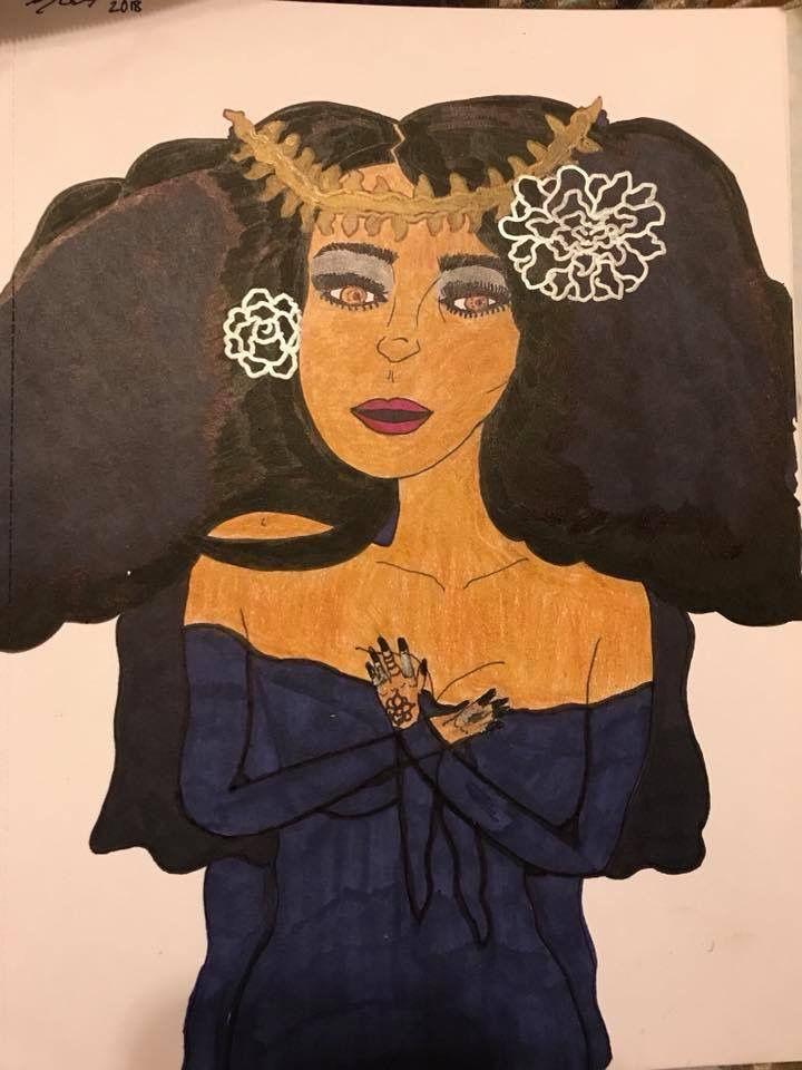 """Black Gothic Bride"" ink and pencil drawing #art #artist #blackart #blackartists #urbanart #urbanartist #drawing #inkdrawing #pencildrawing #gothicart #nubianart #nubianartist #artwork #creativeart #visualart #naturalbeauty #love #blacklove #dopeblackart #blackartspace #cyrecreations"