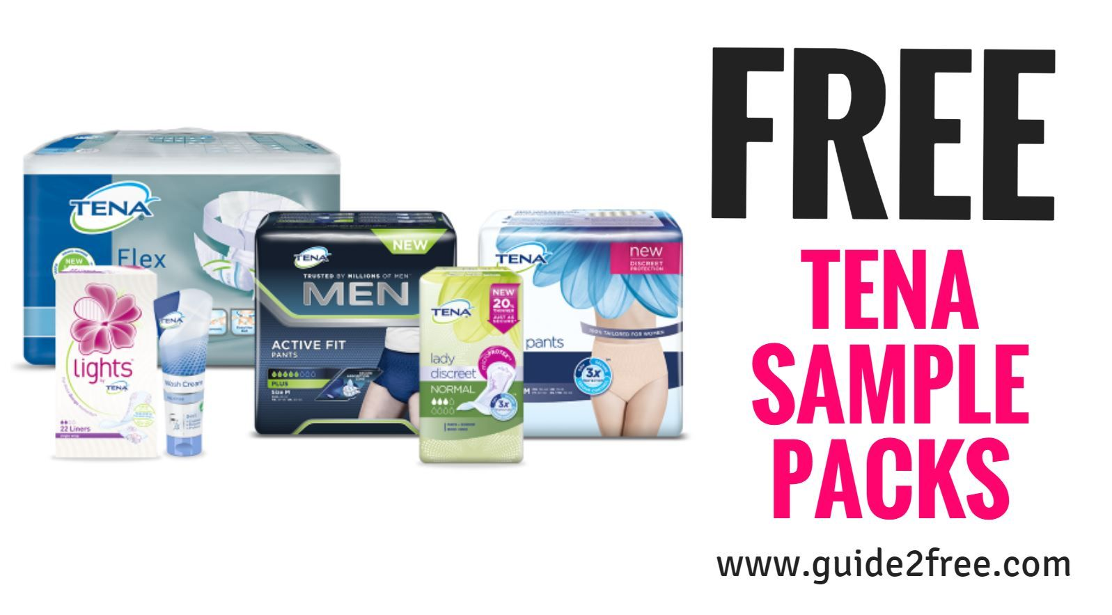 Get a FREE Tena Sample Pack! There are several sample kits