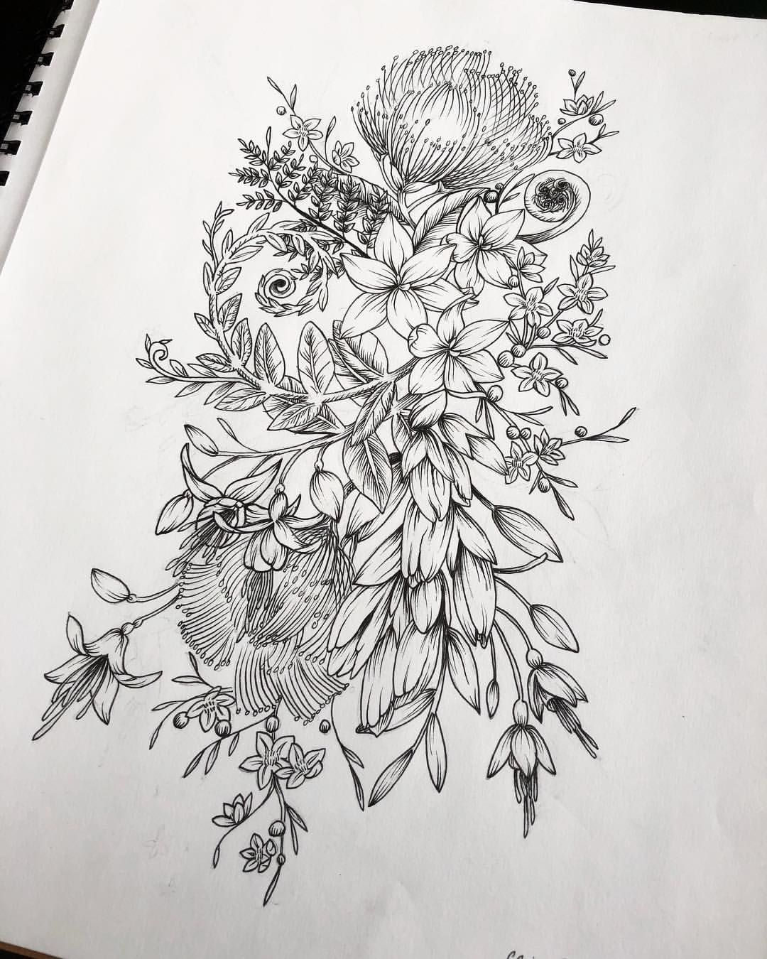 Last custom piece I did with flowers native to New Zealand