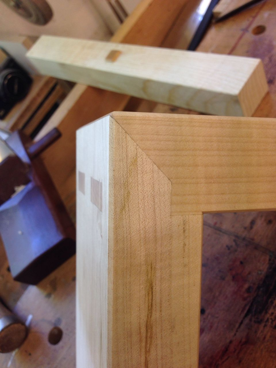 Nice mitered double mortise and tenon corner  Woodworking in 2019  Woodworking wood