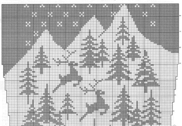 Узор елки спицами схема