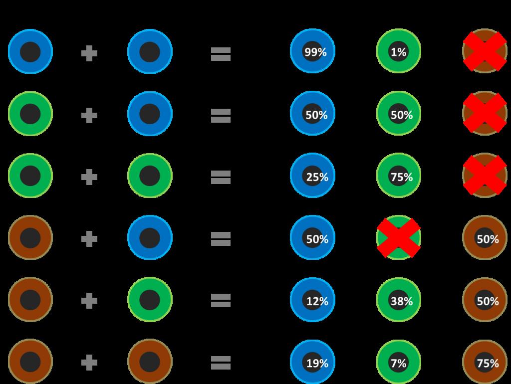 Eyecolorpredict Eye Color Chart Genetics Baby Eye Color Chart Eye Color Chart