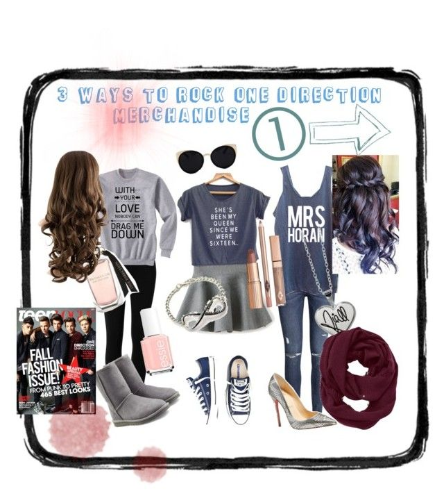 """1d love"" by a-state-of-ruin ❤ liked on Polyvore featuring Max Studio, UGG Australia, H&M, Christian Louboutin, Essie, Una-Home and Athleta"