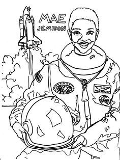 Coloring Page Maya Angelou. Mae Jemison Coloring Pages  bulletin board Pinterest Black