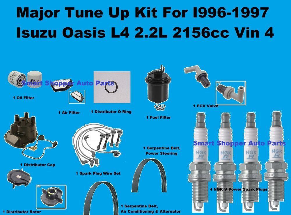 Major Tune Up Kit for 96-97 Isuzu Oasis Spark Plug Wire Set, Oi Air ...