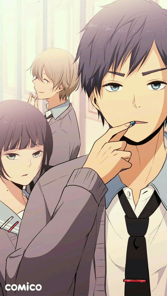 Pin by Manar Ahmed on ReLIFE Anime romance, Anime