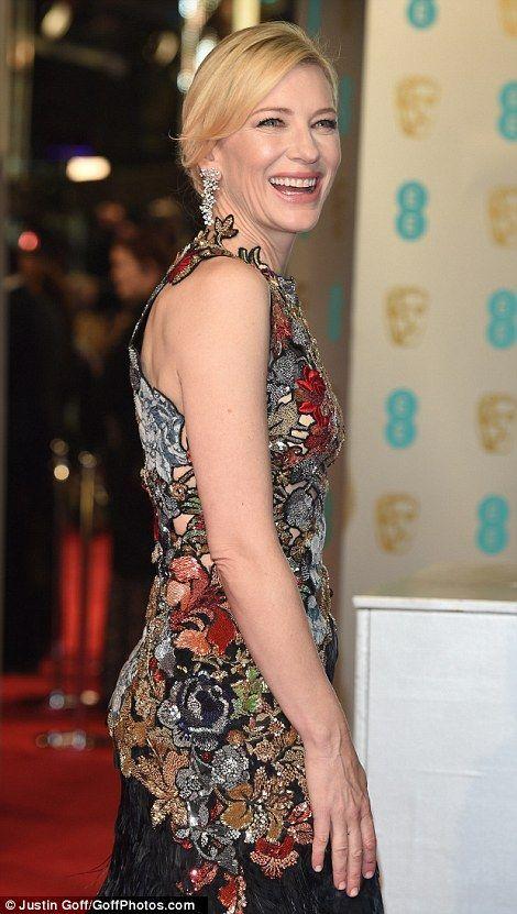 Cate Blanchett at the BAFTA Awards, Red Carpet ceremony, 2016.