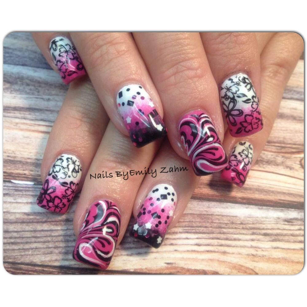 Fancy pink nails!   Nails by Emily Zahm   Pinterest   Pink nails