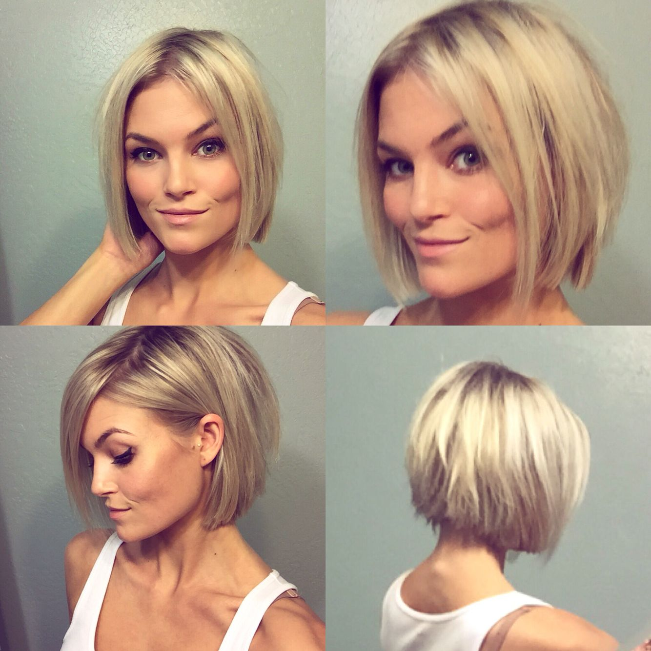 Cheveux milongs tendance modèles en photos short blonde